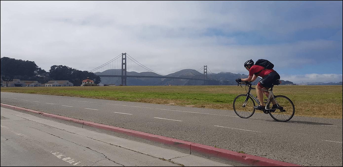 Golden Gate Bridge San Francisco Fahrrad Route