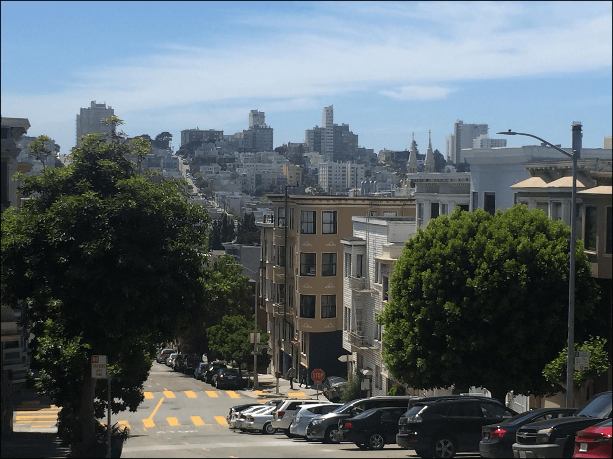 Ausblick über San Francisco Kalifornien Stadtbild