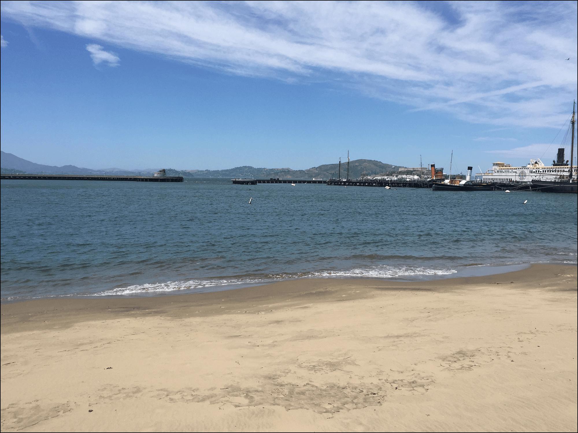 Am Strand von San Francisco Kalifornien