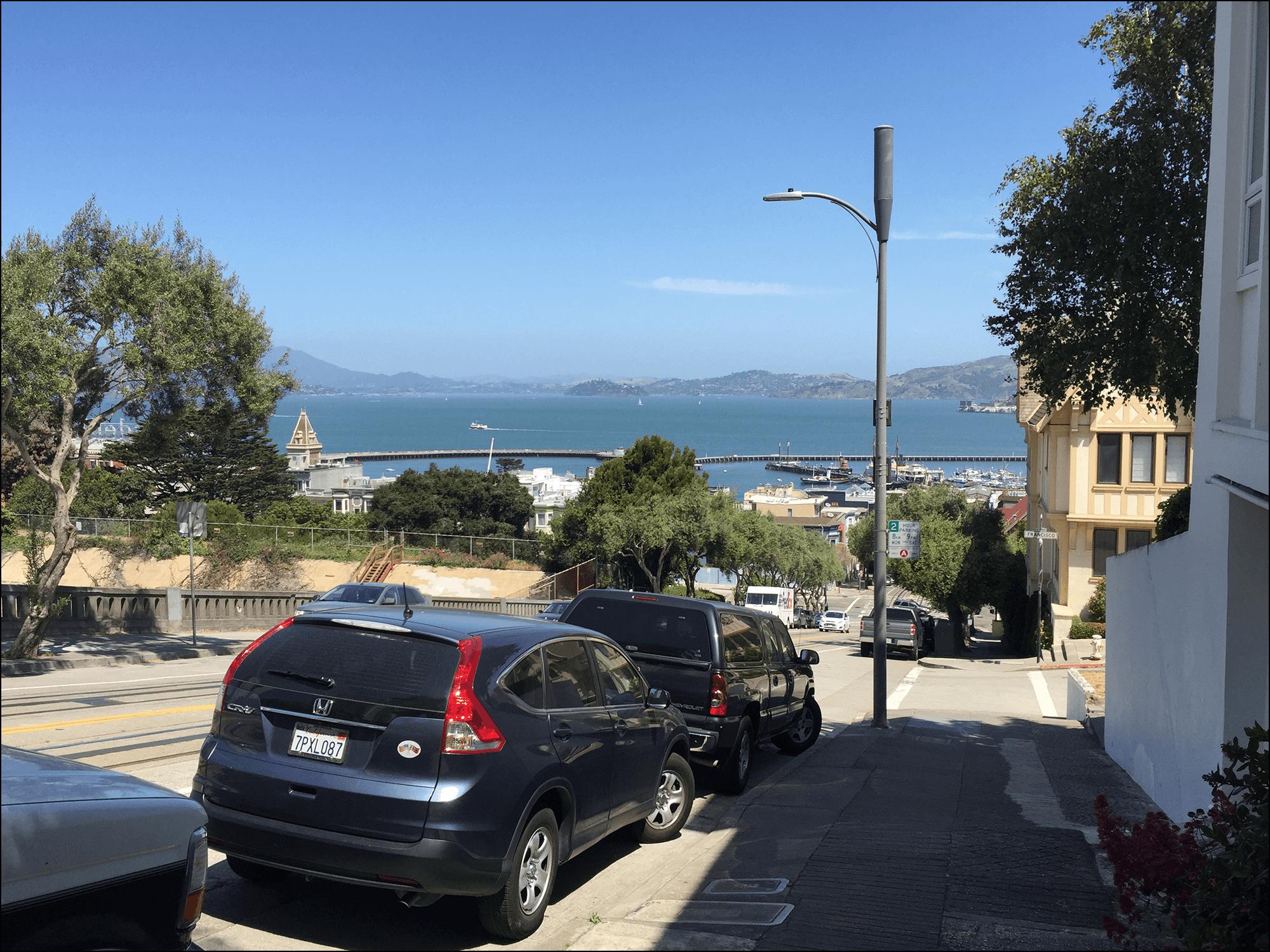 Blick aufs Meer von San Francisco