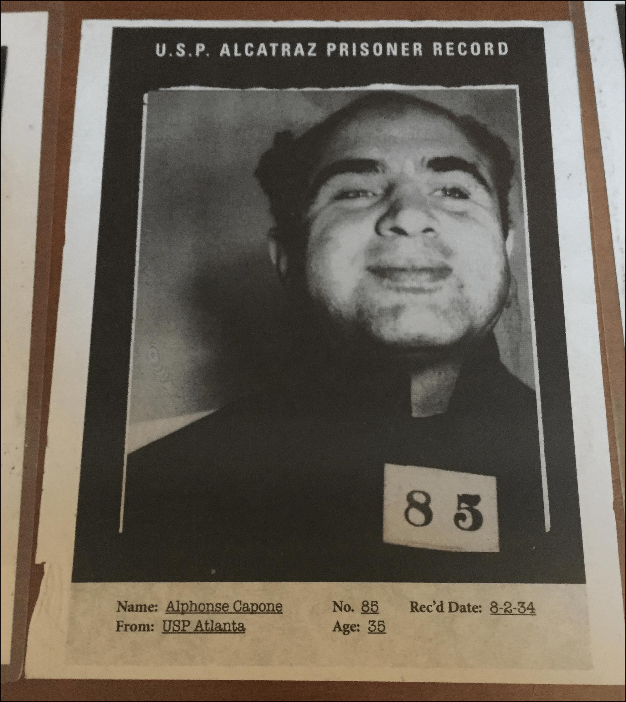 Al Capone in Alcatraz