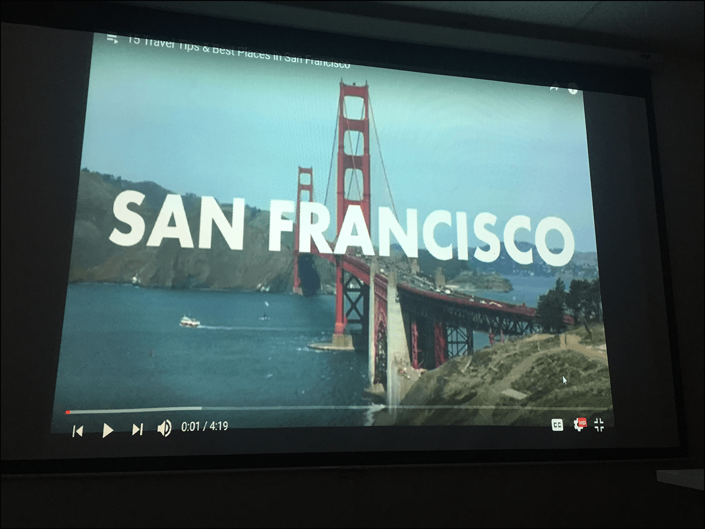 San Francisco Golden Gate Bridge Screen