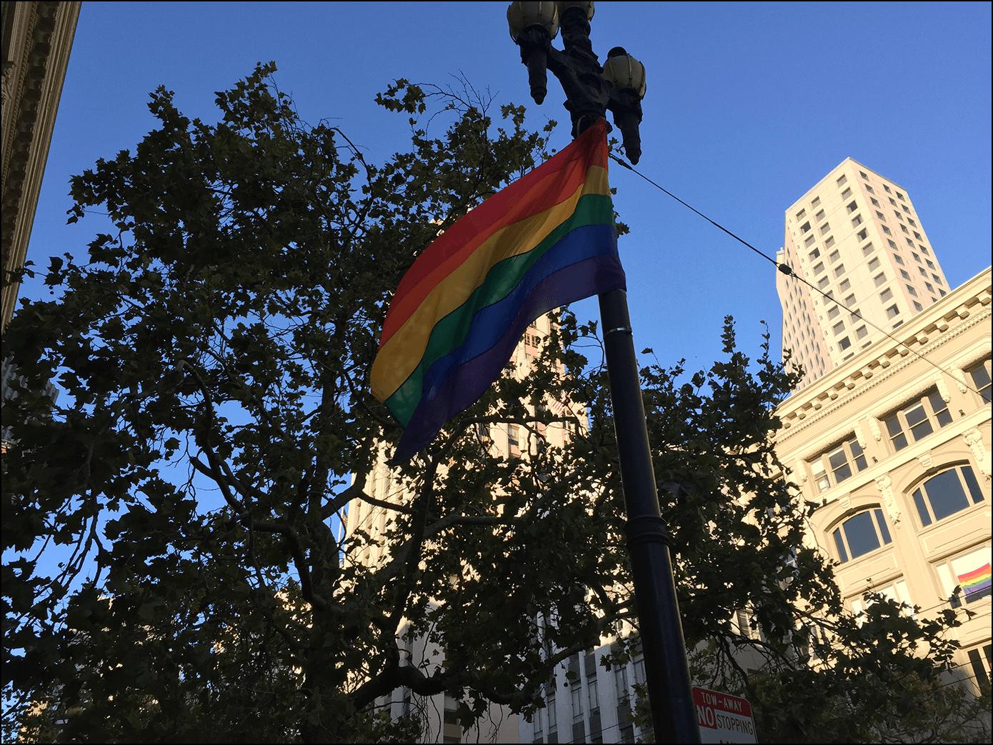 Pride Parade Fahne San Francisco