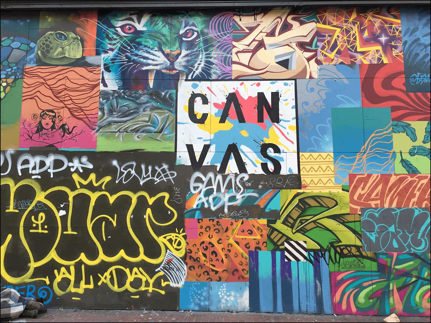 San Francisco Graffiti Can Vas Market Street