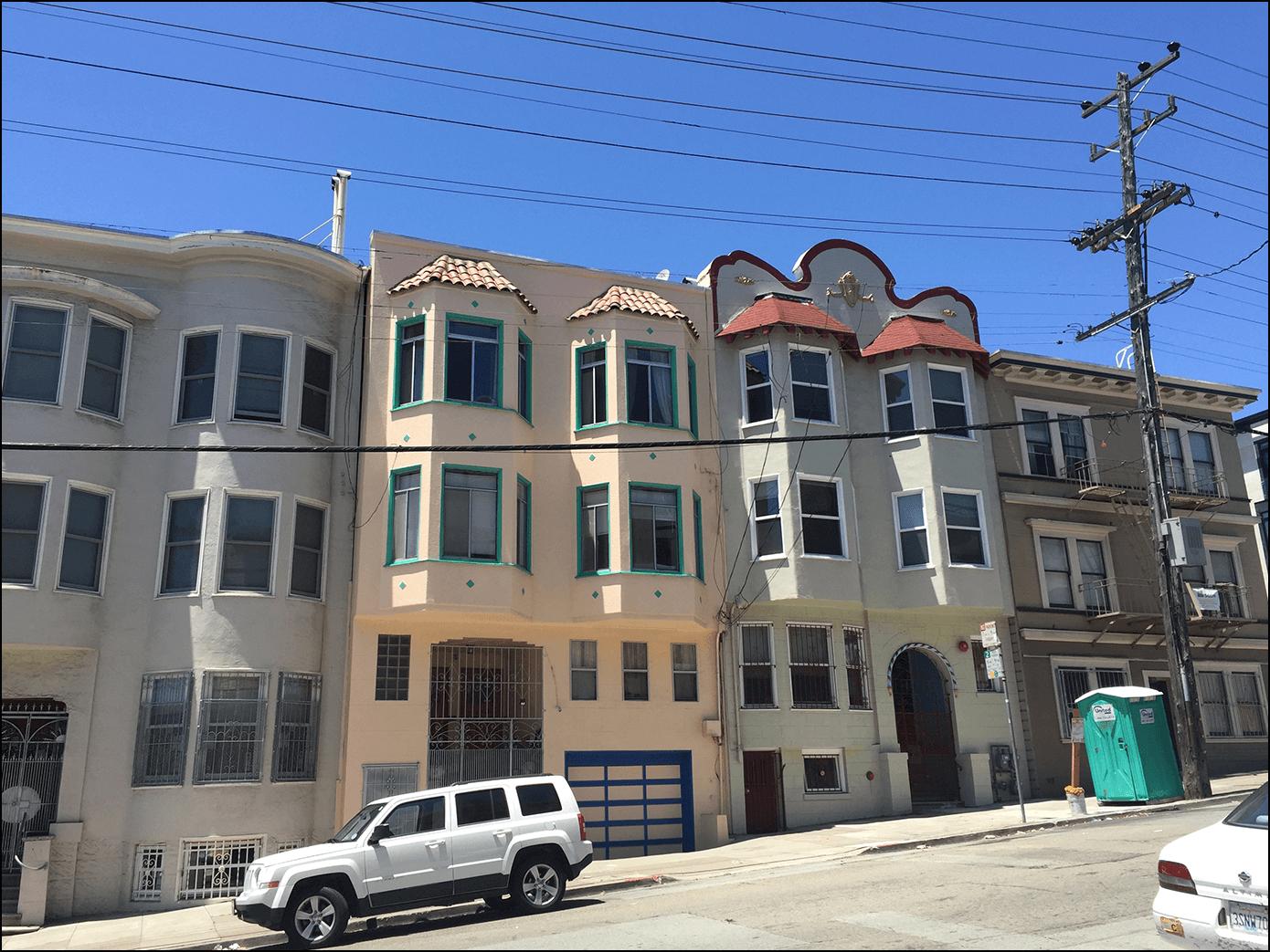 San Francisco Häuser Kalifornien Strasse