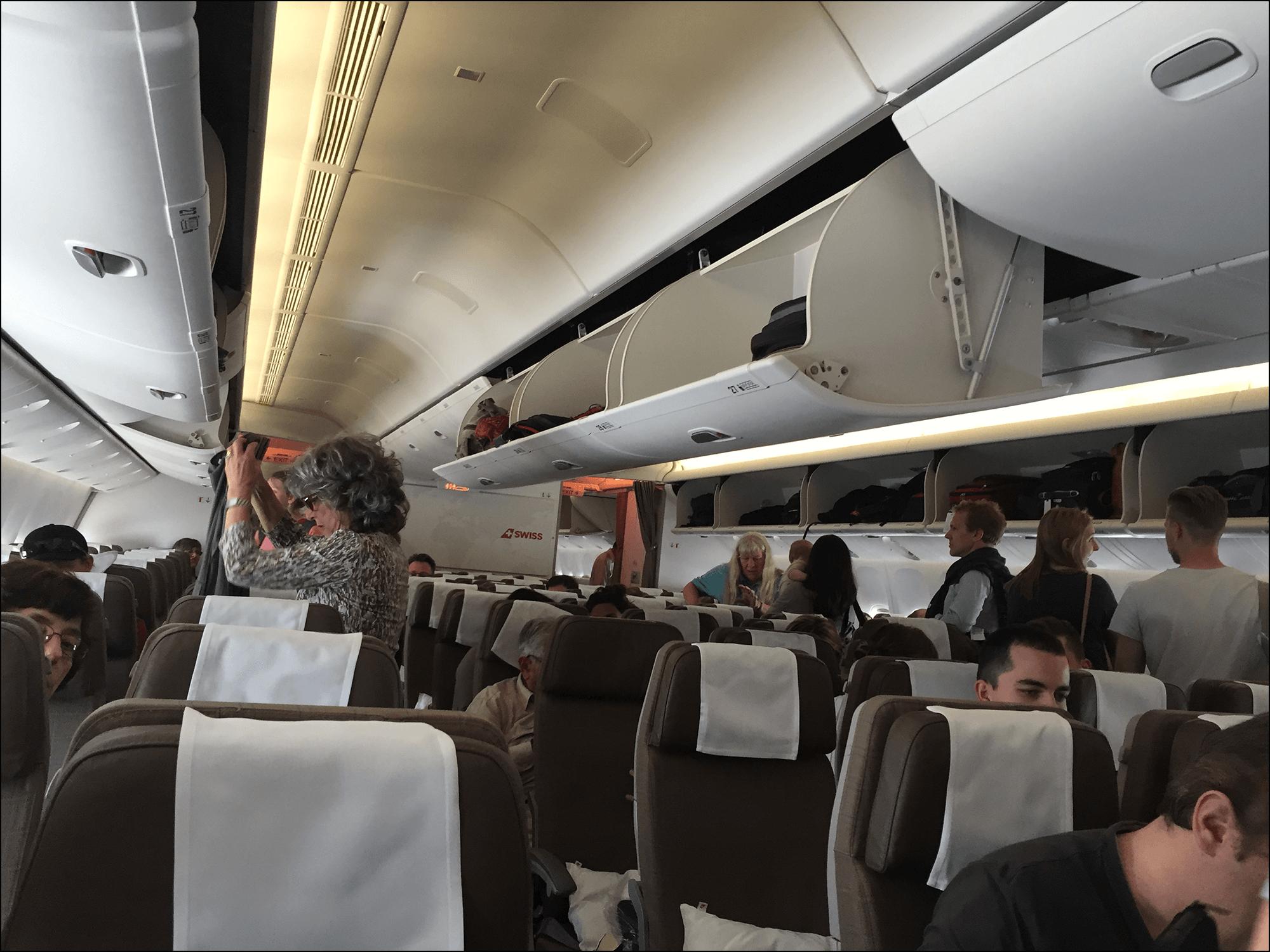 Swiss Boeing 777 Innenraum
