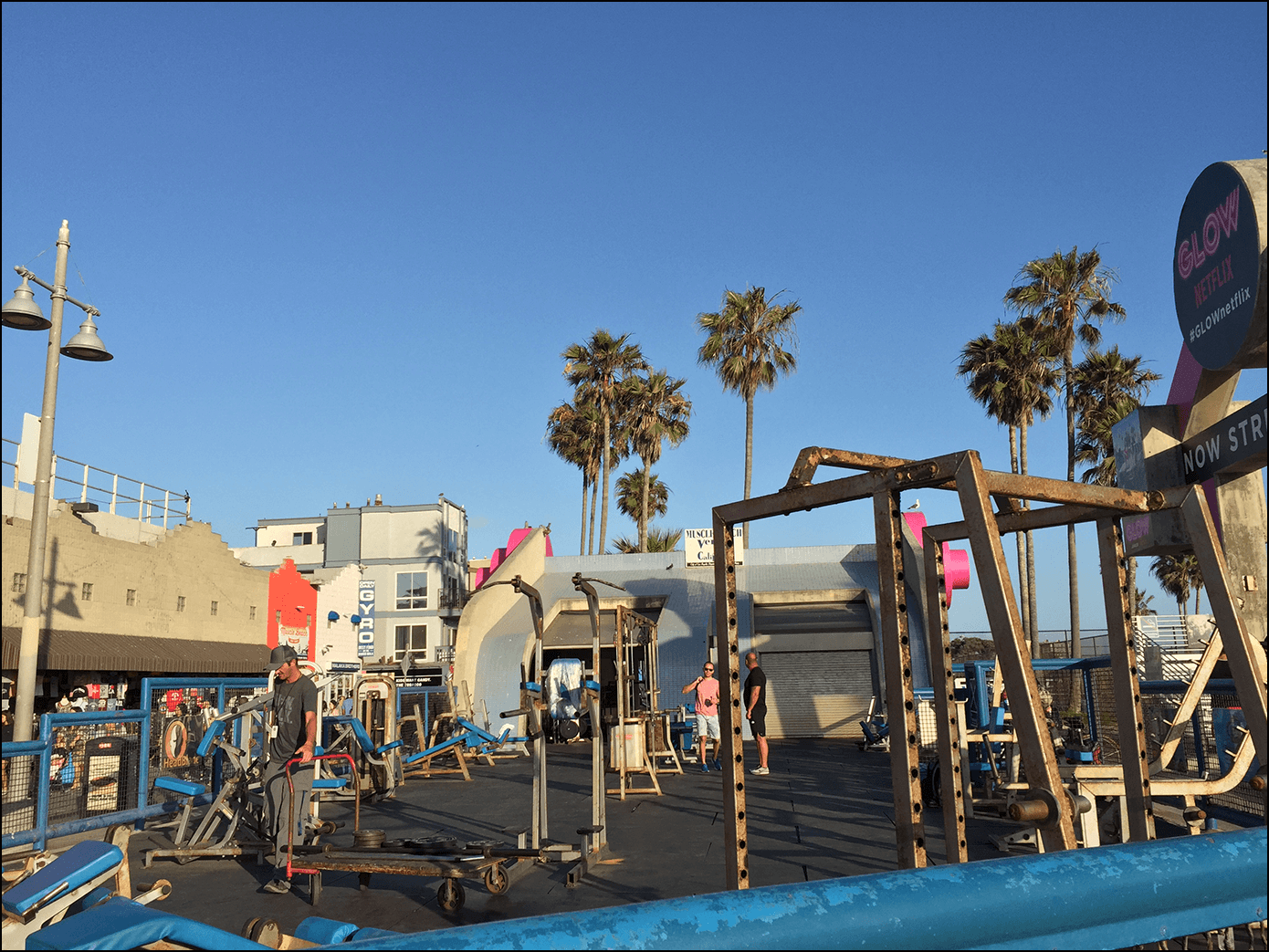 Der Muscle Beach in Venice Beach Kalifornien Los Angeles
