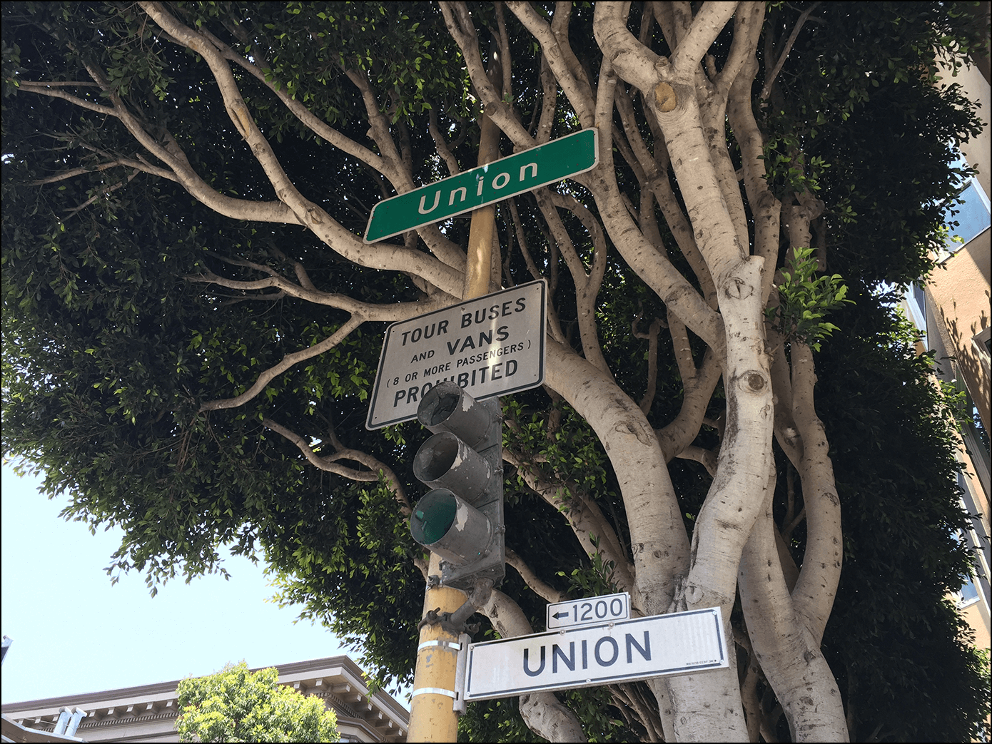 Union Strassenschild in San Francisco