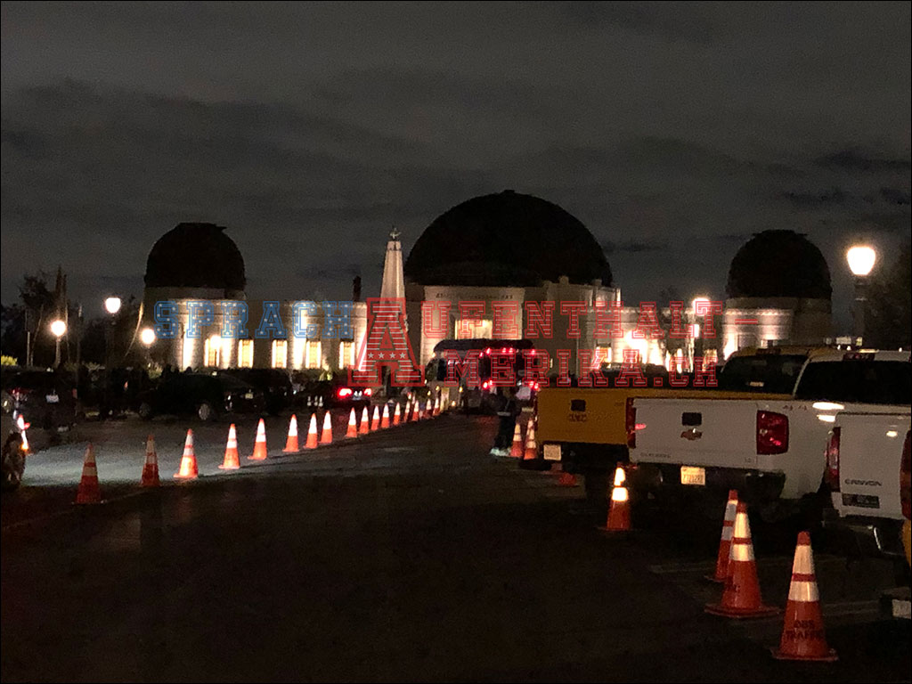 Griffith Observatory bei Nacht