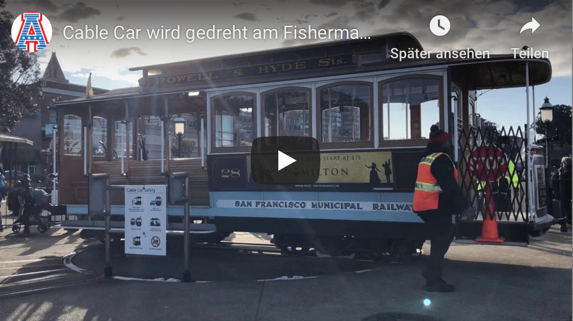 cable car wird gedreht