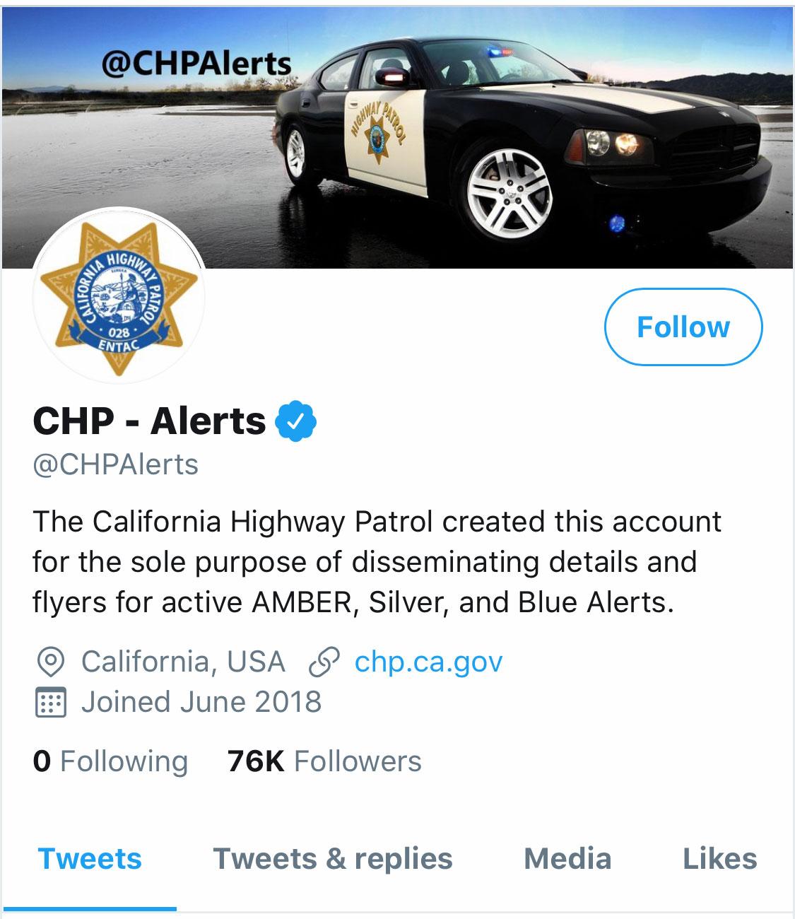 CHPalert Twitter Profil