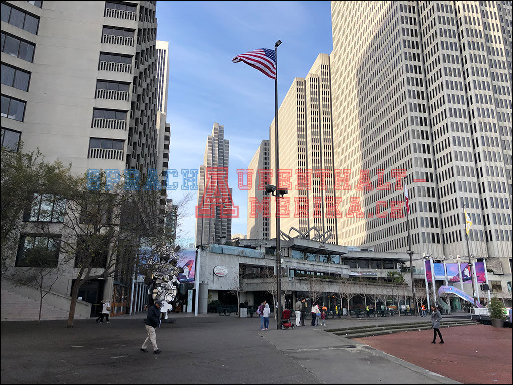 Amerika Fahne San Francisco