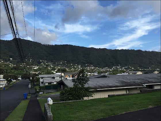 Honolulu in der Nähe der Manoah Falls